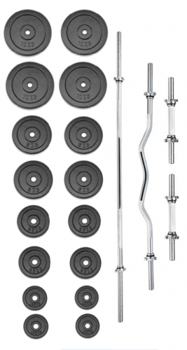 TRINFIT Činkový set PREMIUM XL kovový 100 kg